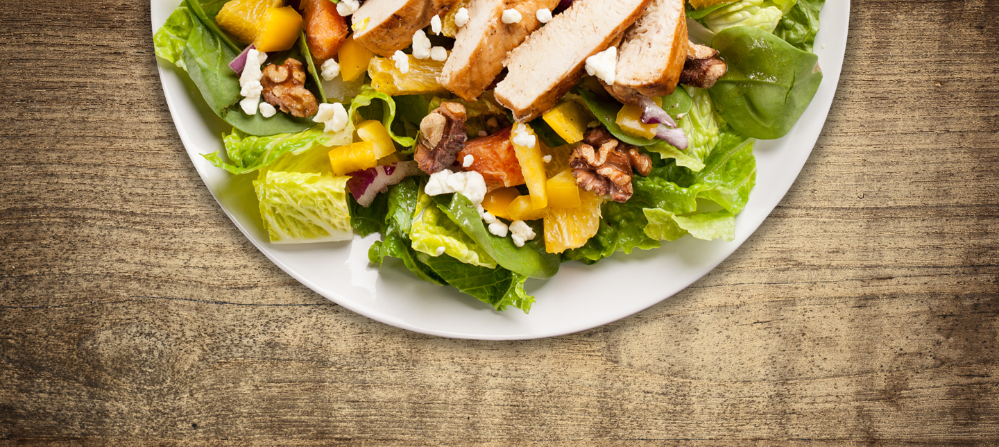 healthy chicken and orange salad